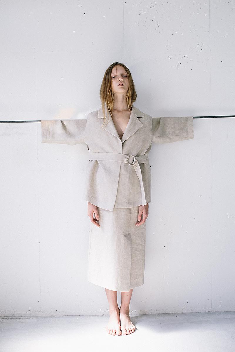 linen jacket / 3way linen skirt