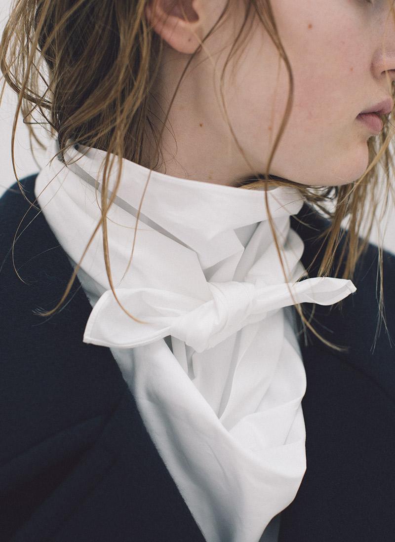 scarf shirts / pea coat