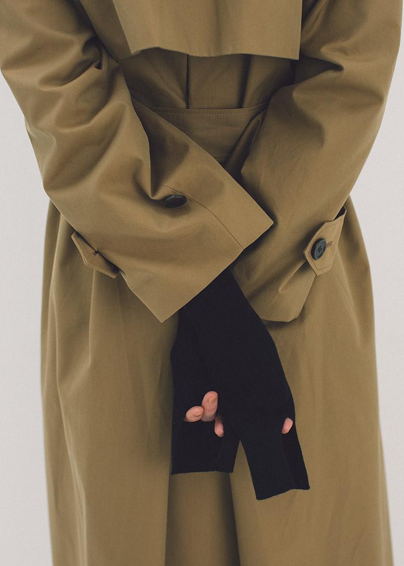 hoodie coat / 2way knit dress